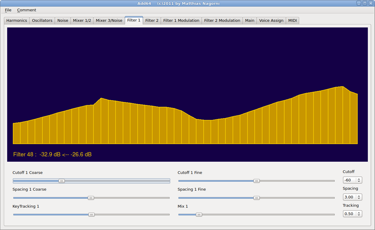 Add64 Voice Bandwidth Filter Harmonics Window 1